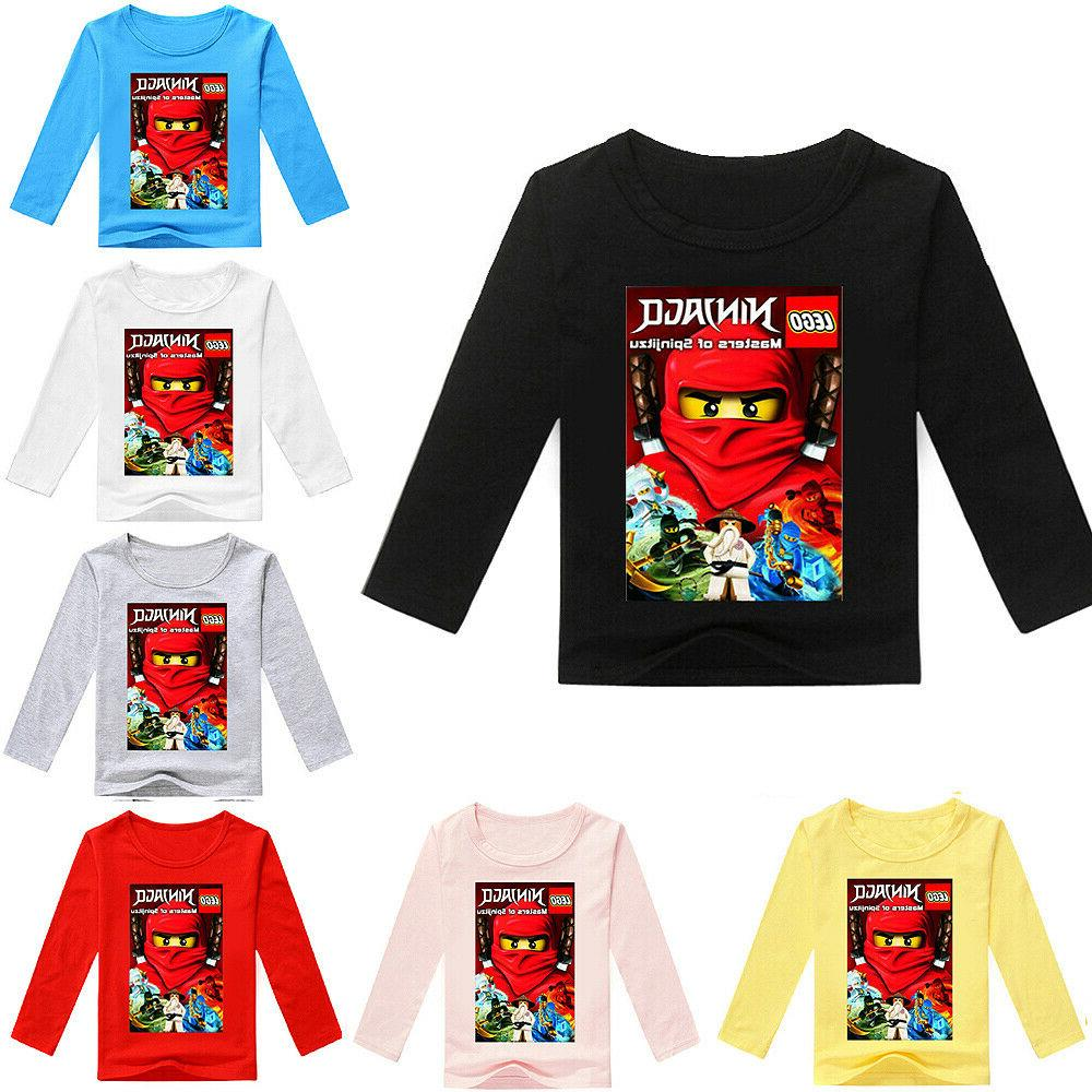 boys girls kids ninjago cartoon long sleeve