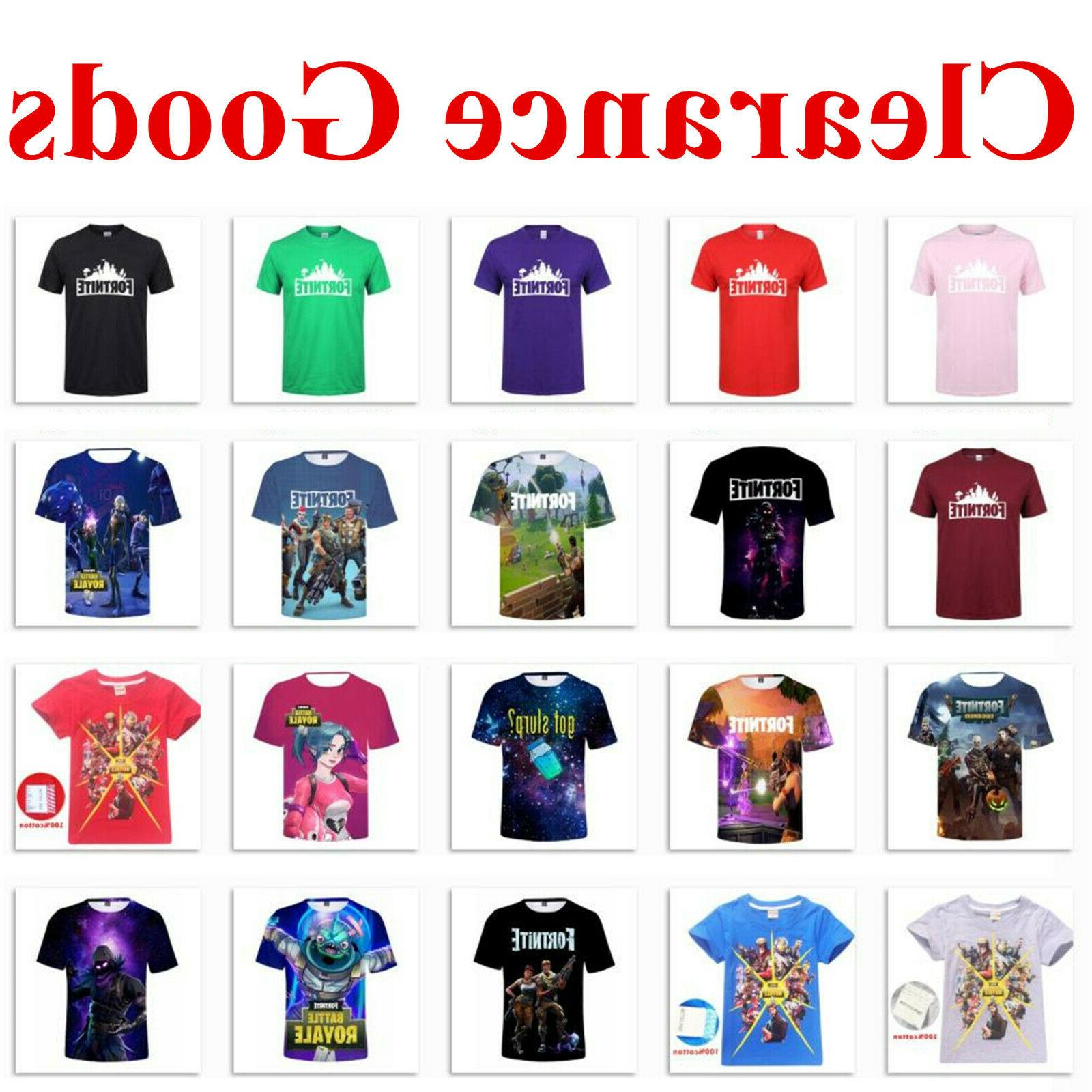 casual short sleeves t shirt game 3d