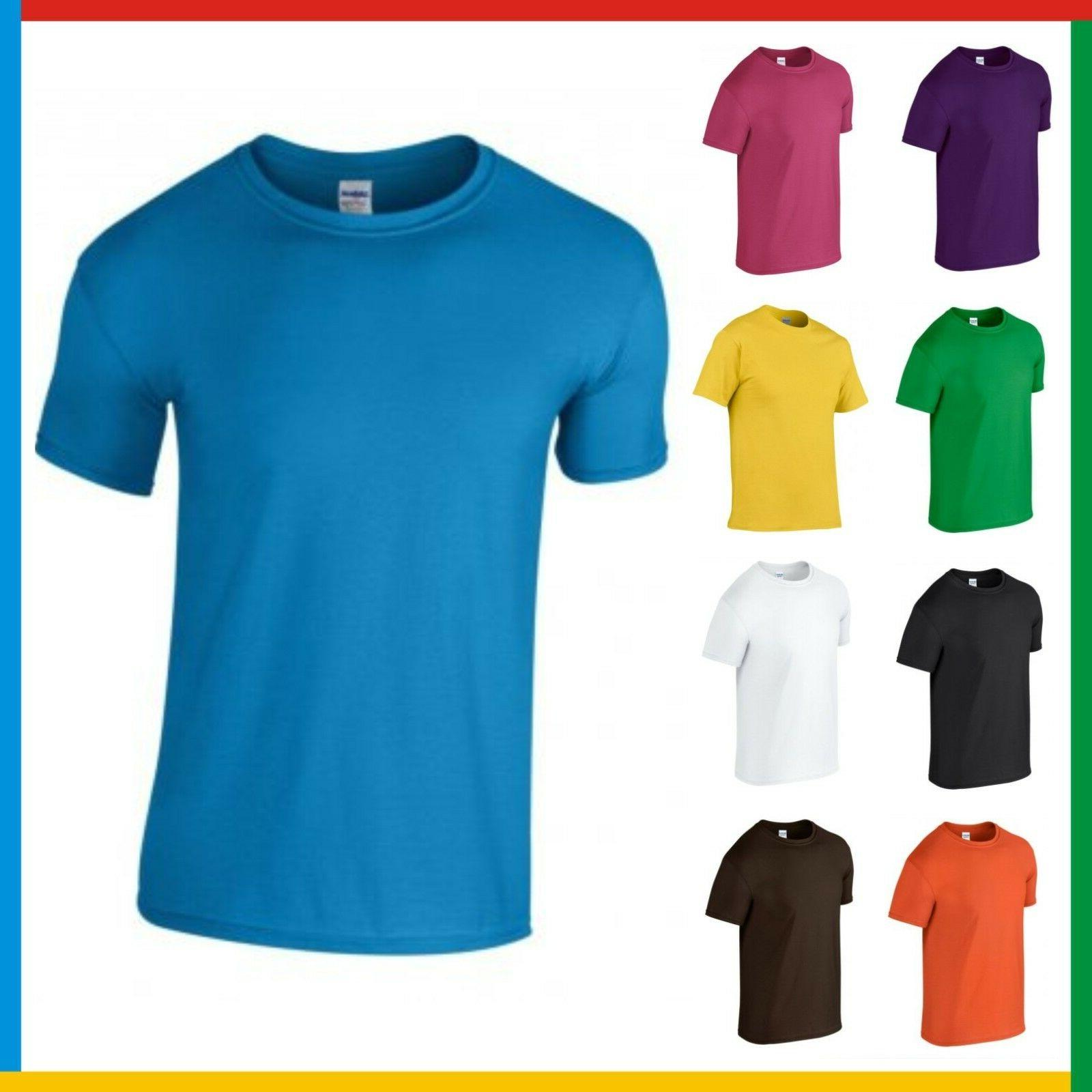 CHILDRENS 100% COTTON T-SHIRT GILDAN Soft Feel Tee Ringspun