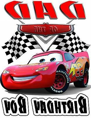 Disney Cars Shirt - McQueen ADD NAME AGE FOR FAMILY