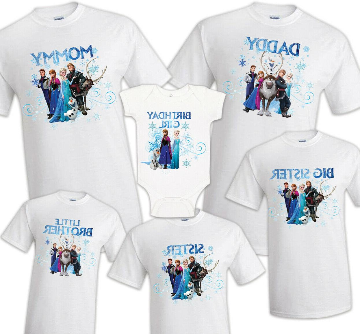 frozen family matching birthday party t shirts