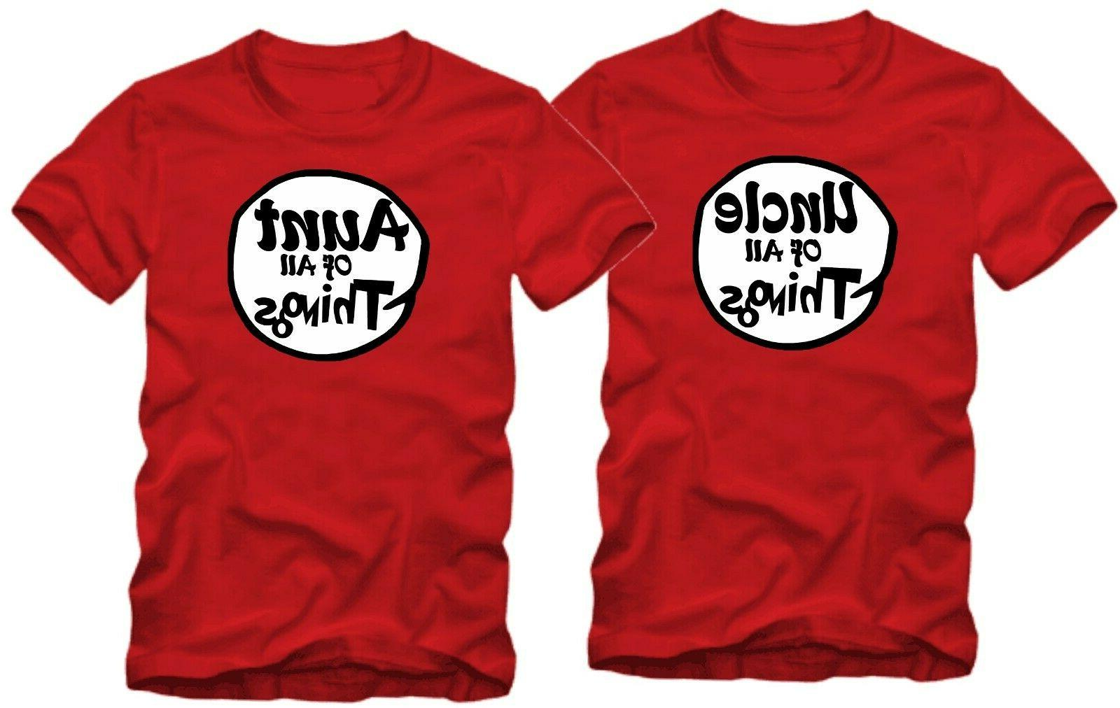 Halloween Funny T-shirts Thing 1 one Two
