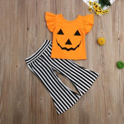 Halloween Toddler Outfits Clothes T-shirt +Long Pants Casual