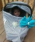 infant car seat cover /nursing cover teal/turquoise girl