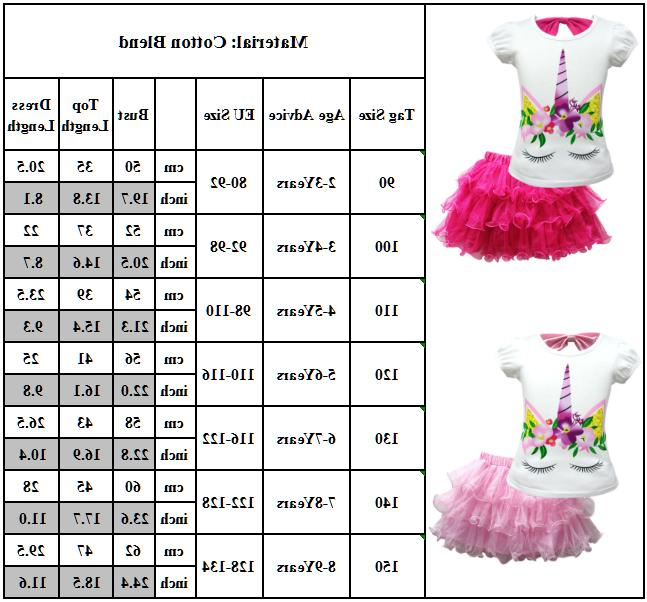 Kid Baby Pattern T-Shirt + Mesh Tutu Skirt Outfit