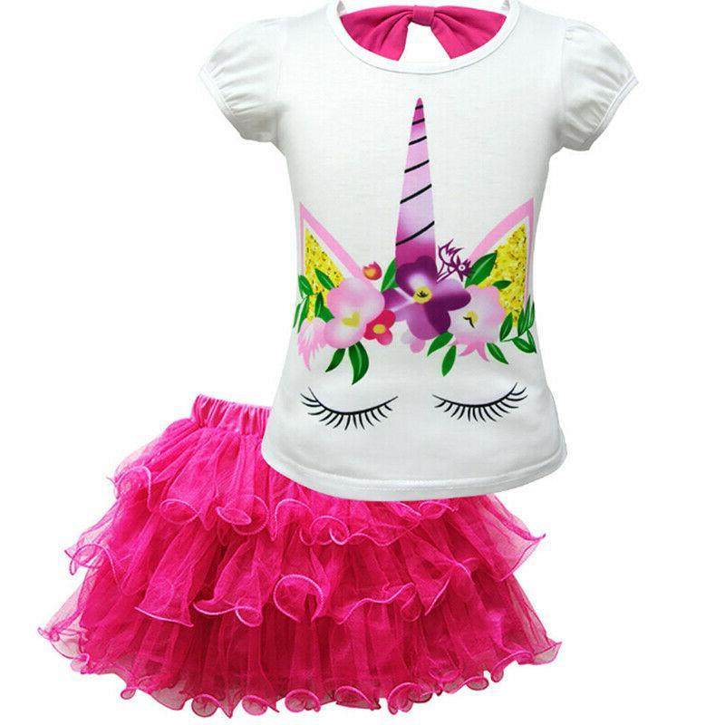Kid Baby Pattern Mesh Tutu Party Outfit