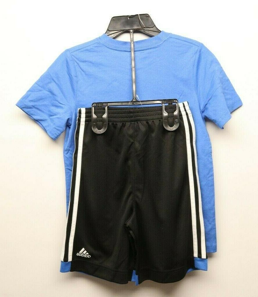 Adidas Kids Active Shirt/Shorts Blue/Black