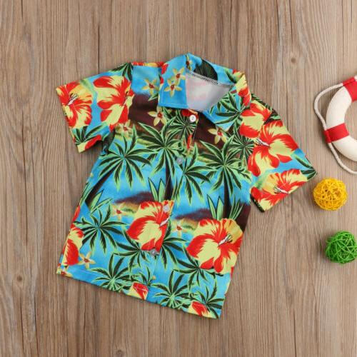 Kids Baby Cotton Shirt Flowers Print