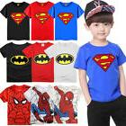 kids baby boys t shirt cartoon superhero