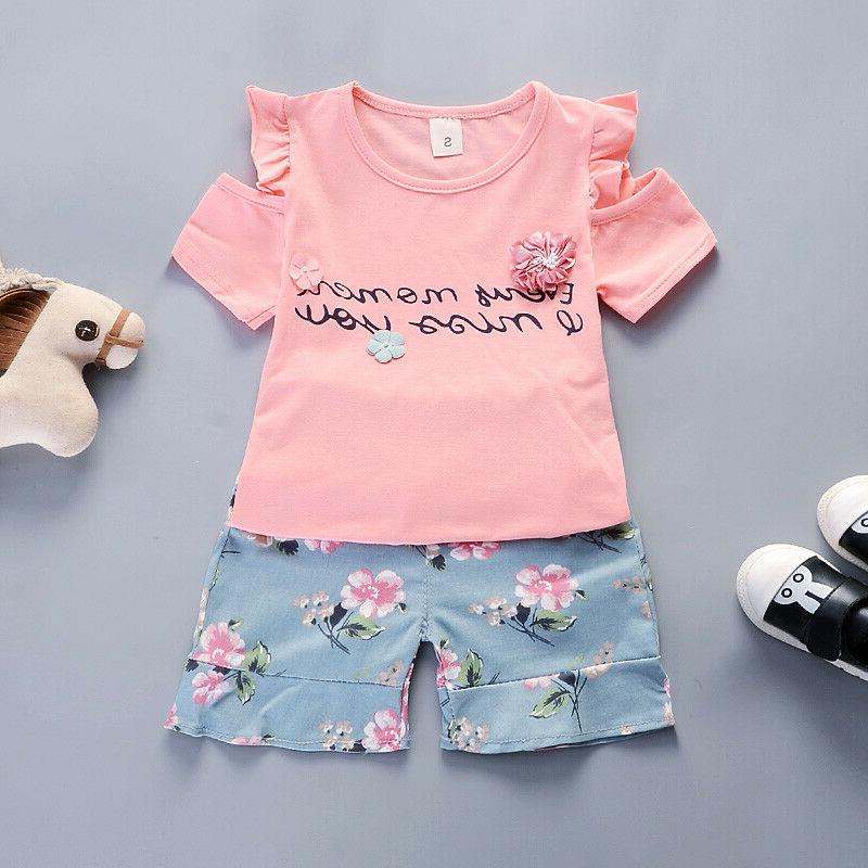 kids baby girls clothes outfits sets t