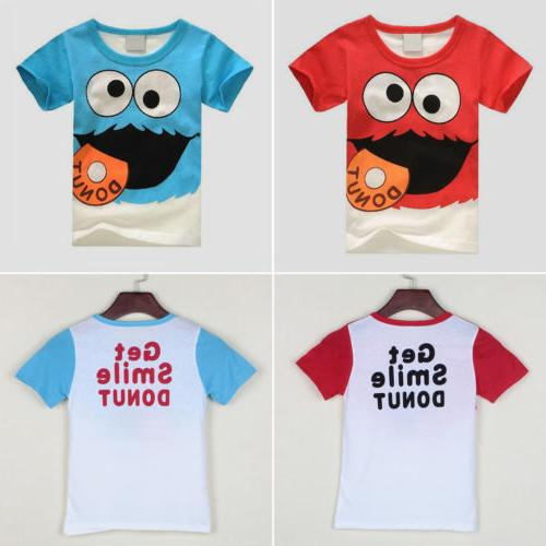 Kids Boys T-Shirt Round Summer Short Sleeve