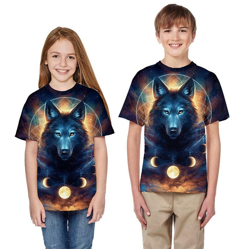 Kids Graphic Shirt Sleeve Summer Casual Top