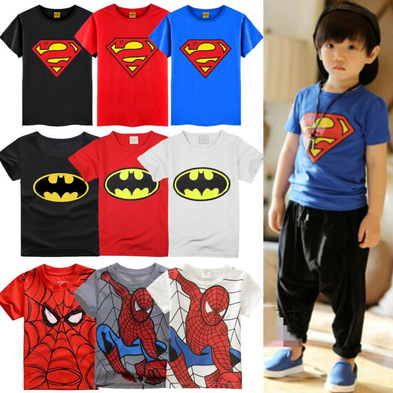 Kids Superman T-Shirt Casual Loose Shirts
