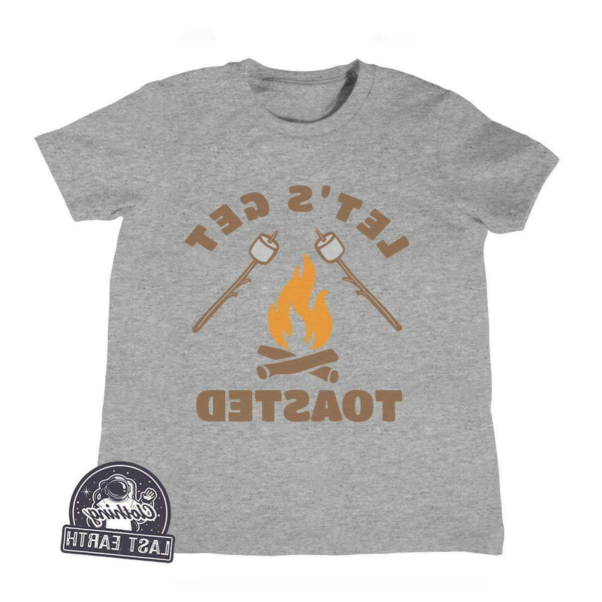 kids camping shirt lets get toasted smores