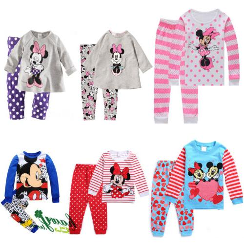 Kids Girls Minnie Pajama Sleepwear Outfits