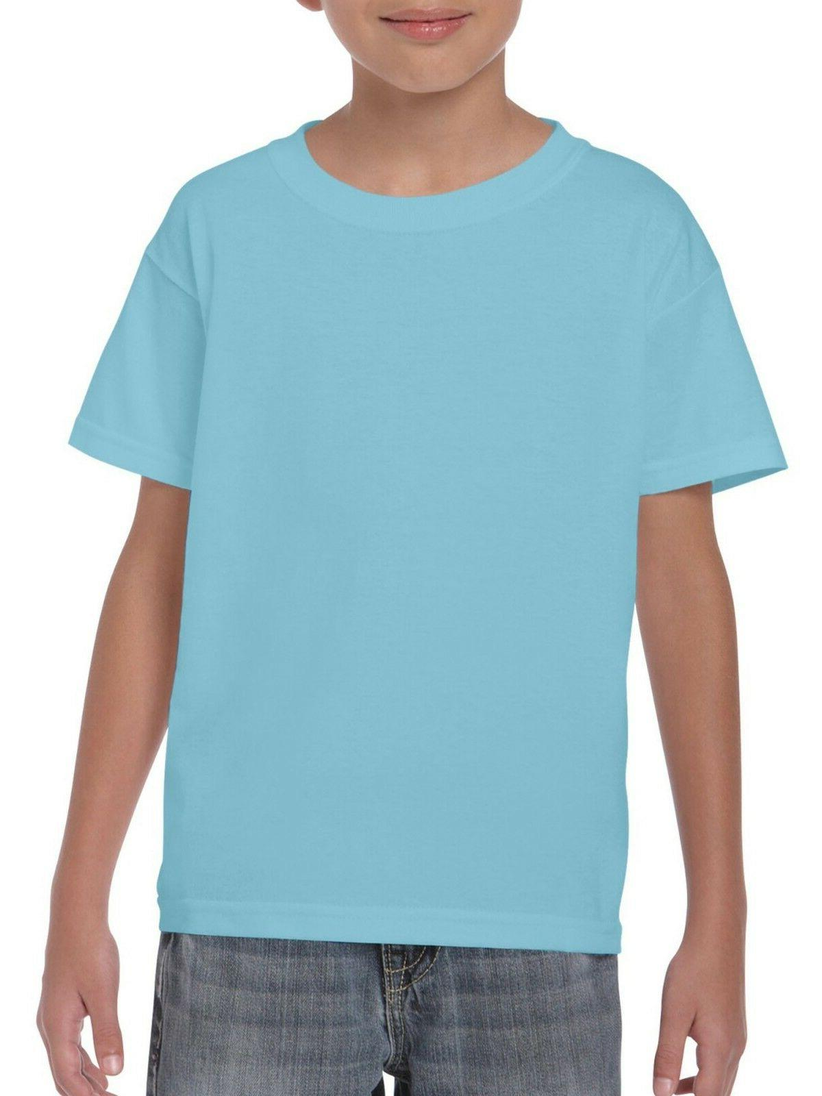 Gildan Kids Short Sleeve T-Shirt Blue Size Small