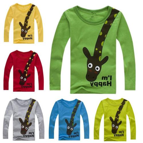 Kids Cartoon Blouse Outfits Clothes