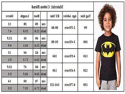Kids Boys Girl Superhero 2Pcs Set