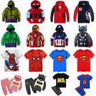Kids Toddler Boys Superhero Hoodie Coat Sweatshirt T-Shirt O