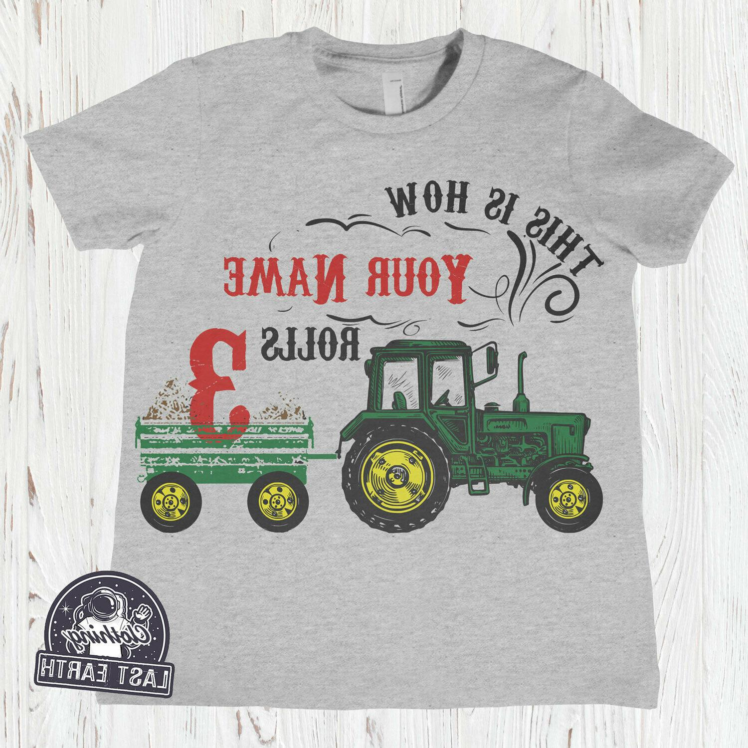 kids tractor shirt personalized farm shirt clothing