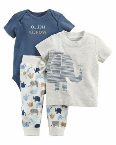 Canis Newborn Kids Baby Boys Girls Elephant Tops T-shirt Lon