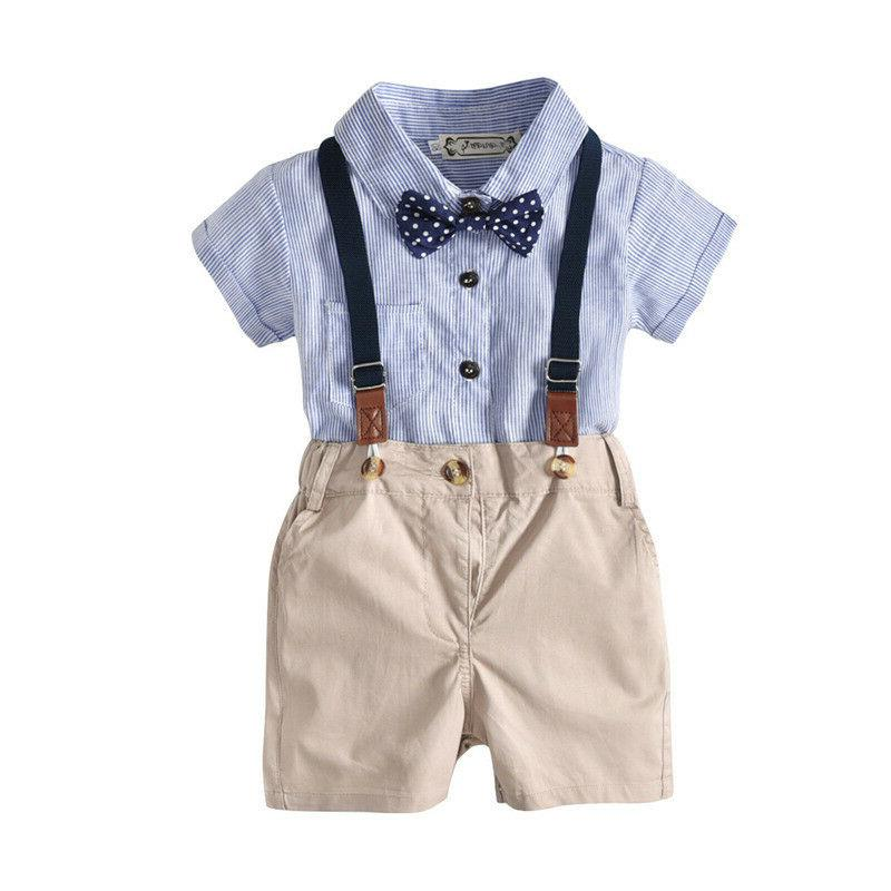 Boys Pants Clothes Gentleman Shirt