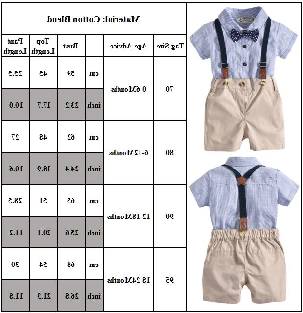 Bowtie Newborn Kids Boys Bodysuit Clothes Shirt