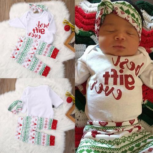 Stylish Newborn Outfit Set Kid Baby Boy Girl T-Shirt + Pants
