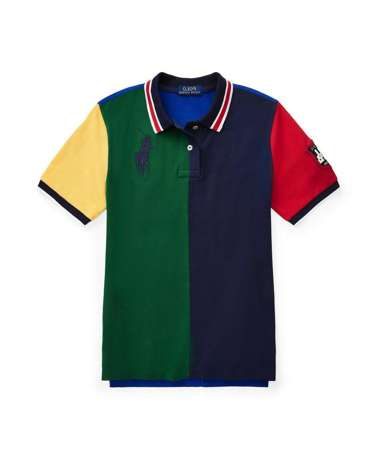 nwt 49 color blocked big pony polo