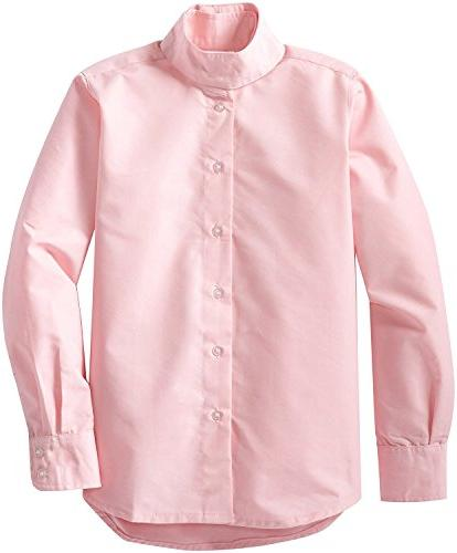 TuffRider on Long Sleeve Shirt- 2 Maven Denim Jods/Pink Shirt, 4