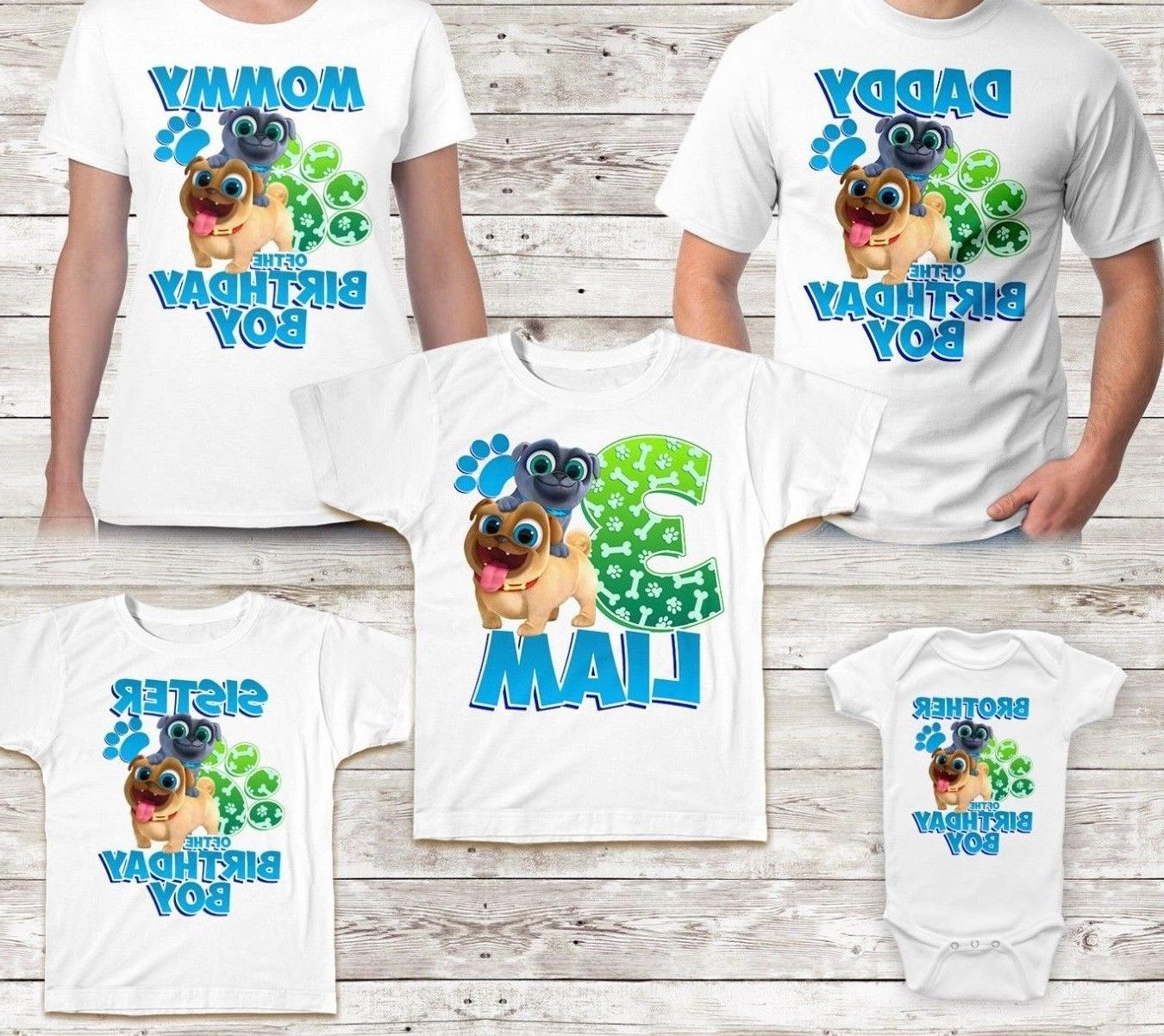 puppy dog pals birthday shirt name
