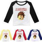 ROBLOX Boys Girls Kids Cartoon T-shirt Long Sleeve Spring Fa