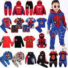 Spiderman Kids Toddler Boy Tracksuit Hoodie Joggers Sweatshi