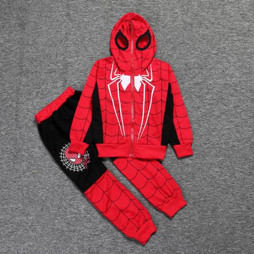 Spiderman Toddler Tracksuit Hoodie Joggers T-Shirt
