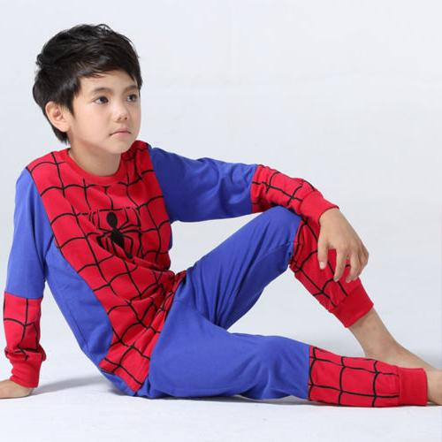 Spiderman Toddler Boys Tracksuit Hoodie Joggers T-Shirt Outfits