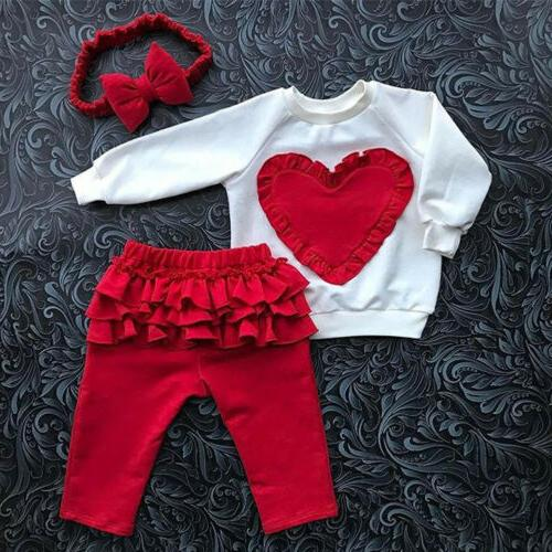 Toddler Girl Clothes Top T-shirt Pants Leggings Outfits USA