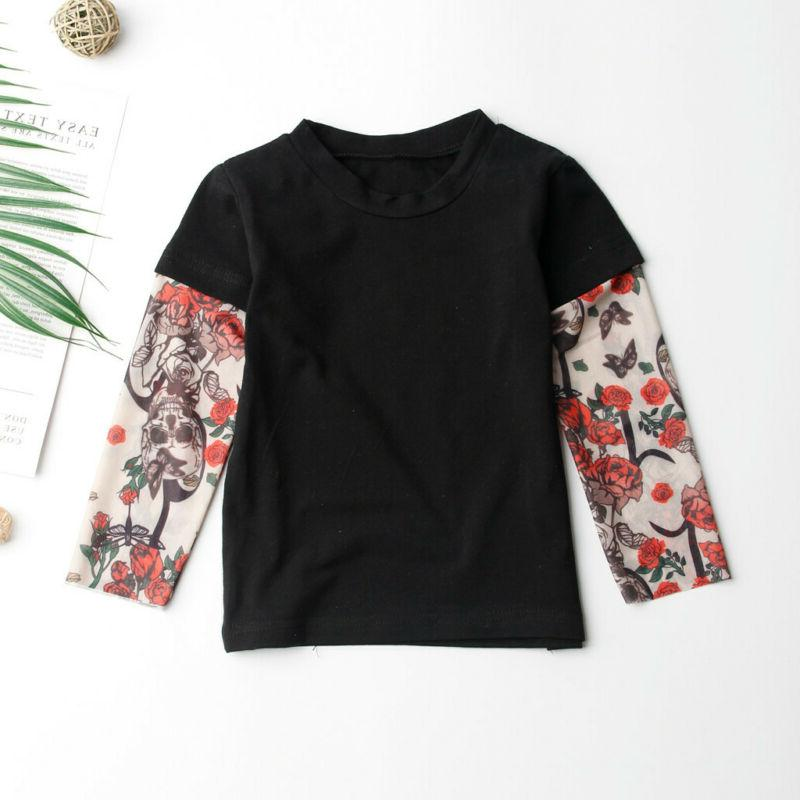 Toddler Kids Baby Boys Girls Print Long Sleeve Clothes