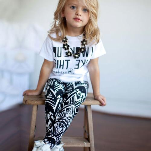 Toddler Clothing Top Slim Pants Set Casual Sport Outfits