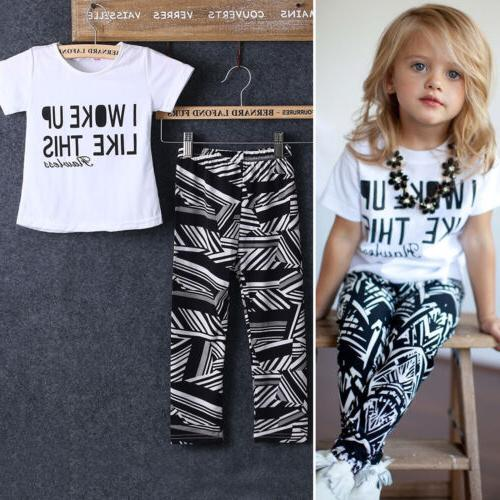 Toddler Girls Clothing Top Slim Pants Outfits