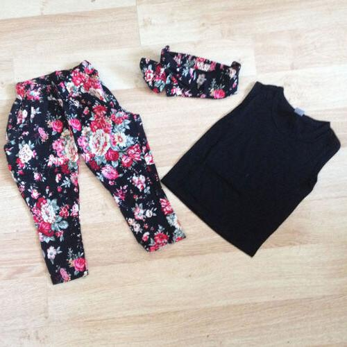 Toddler Kids Baby Girls Clothing Top Pants Casual Sport Outfits