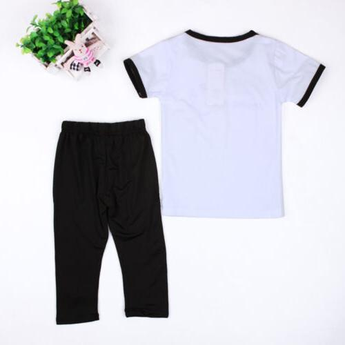 Toddler Baby Clothing T-Shirt Pants Set Casual Sport Outfits