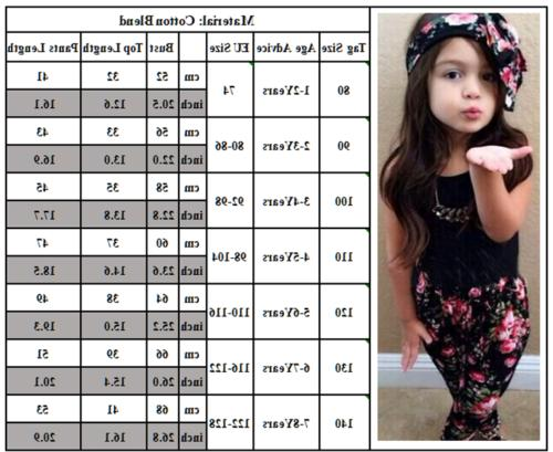 Toddler Kids Baby Girls Clothing Top Pants Set Casual Outfits