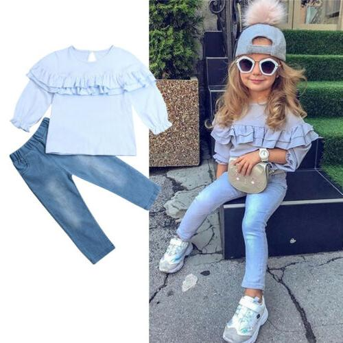 Toddler Kids Baby Clothing Denim Pants Outfits 1-6Y