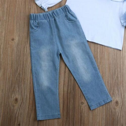 Toddler Kids Clothing Long Sleeve Denim Outfits 1-6Y