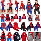 Toddler Kids Boys Spiderman Hooded Coat Sweatshirt T-Shirt P