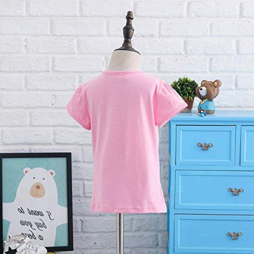 Unicorn Flip Girl's T-Shirt Short/Long 3-12 Years