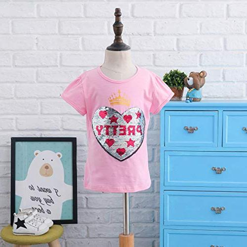 Unicorn Flip Girl's T-Shirt Short/Long Sleeve 3-12 Years