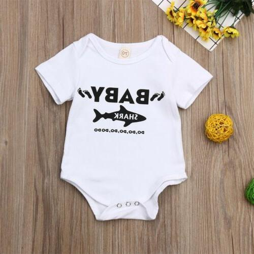 US Bodysuit Playsuit T-Shirt Kids Boy Clothes Set
