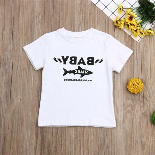 US Bodysuit Playsuit T-Shirt Newborn Kids Baby Boy Set