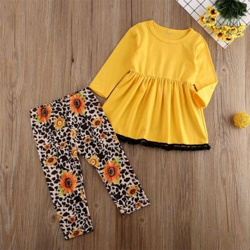 US Girls Outfits Clothes Long Sleeve shirt Pants Sets